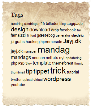 Wordpress tag cloud
